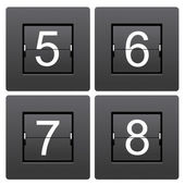 Numeric series 5 to 8 from mechanical scoreboard — Vettoriale Stock