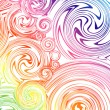 Swirling hand drawn of various colors. Vector — Stock Vector