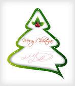 árbol de navidad de dibujos animados. vector — Vector de stock