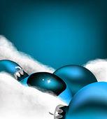 Xmas greeting card. Christmas blue toy — Stock Vector