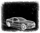 Car is designed. Vector — Stock Vector