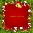 Christmas Frame With Holly Decoration. Vector — Image vectorielle