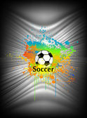 Abstract background with soccer ball. Vector — Stock Vector