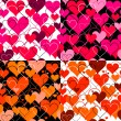 Set hearts pink seamless Backgrounds. Vector — Stock Vector #37302657