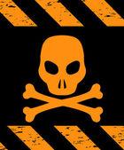 Skull Symbol Danger. Vector — Stock Vector