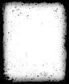 黒グランジ フレームが分離されました。ベクトル — ストックベクタ