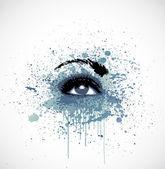 Grunge abstraction grey make-up. Vector — Stock Vector