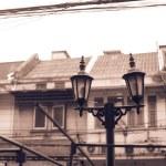 Old fashioned street lantern — Stock Photo