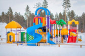 Playground in winter — Stock Photo