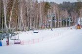 Ski Lift in the mountains — Stock Photo