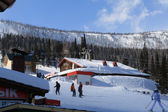 Mountain skiing resort — ストック写真