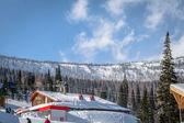 Mountain skiing resort — Stock Photo