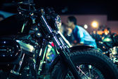 Motorcycles exhibited at motorcycle show — 图库照片