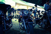 Motorcycles exhibited at motorcycle show — Stok fotoğraf