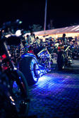 Motorcycles exhibited at motorcycle show — Foto Stock