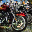 Motorcycles exhibited at motorcycle show — Stock Photo #39691783