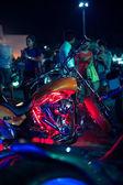 Motocicletas expostas no show de moto — Fotografia Stock
