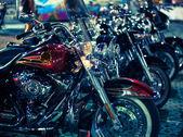 Motorcyklar som ställde ut på motorcykel show — Stockfoto