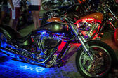 Motorcycles exhibited at motorcycle show — Zdjęcie stockowe