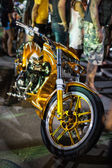 Motorcycles exhibited at motorcycle show — Stock Photo
