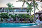 Paisaje tropical fuente en balneario — Foto de Stock