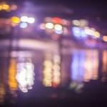 Koh Samui seascape at twilight time, Blurred Photo bokeh — Stock Photo