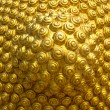 Golden spiral pattern from the head of the Buddha — Foto Stock #40126523