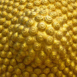 Golden spiral pattern from the head of the Buddha — Stock Photo