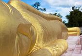Buddha sculpture lying — Stock Photo