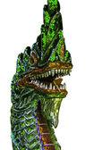 Statua di drago colorato isolato — Foto Stock