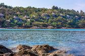 Nadmorska miejscowość z widokiem na ocean w tajlandii — Zdjęcie stockowe