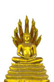 Buddha statue on white background — Stock Photo