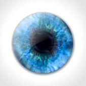 Macro de pupila do olho azul. vector — Vetor de Stock