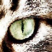 Green cat's eye concept. Vector — Stock Vector
