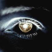Reverse eye, skin Tones close-up — Stock Vector