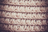 Close up of a vintage wicker texture — Stock Photo