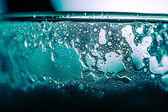 Abstract blue water bubbles — Stock Photo