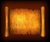 Oud scroll papier geïsoleerd op een witte achtergrond. vector — Stockvector