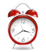 Red alarm clock. Vector — Stock Vector