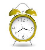 黄色の目覚まし時計。ベクトル — ストックベクタ