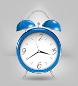 Blue alarm clock. Vector — Stock Vector