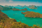 View from mountain on  Angthong Marine National Park — Zdjęcie stockowe