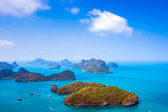 View from mountain on  Angthong Marine National Park — Stok fotoğraf