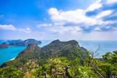 View from mountain on  Angthong Marine National Park — 图库照片