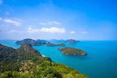 Blick vom Berg auf Angthong marine National park — Stockfoto