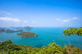 A Beach of Angthong Marine National Park. View from mountain on — Stock Photo