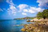 Tropical beach at Koh Phangan - nature background. Thailand — Stock Photo