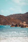 Tropical beach at Koh Phangan - nature background. Thailand — Stock fotografie