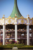 Carousel. Horses on a carnival in bangkok siam park — Foto Stock