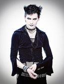 Uomo stile goth — Foto Stock
